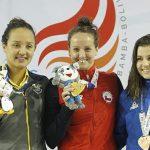 Kristel Köbrich ganó los 800 metros libres y sumó su segunda medalla de oro en Cochabamba