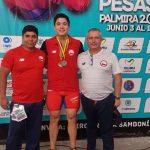 Camilo Zapata y Nicolás Cuevas se subieron al podio del Panamericano Sub 17 de Levantamiento de Pesas