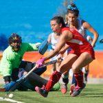 """Las """"Diablas"""" empataron con Uruguay en nueva jornada del hockey césped en Cochabamba"""