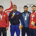 Eduardo Gajardo ganó una medalla de bronce en la lucha olímpica de los Juegos Sudamericanos