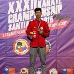 Joaquín González ganó medalla de oro en el Panamericano de Karate 2018