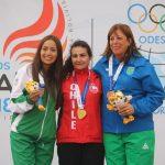 Pamela Salman y Anyelo Parada entregan las primeras medallas chilenas en el tiro deportivo de Cochabamba