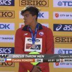 Claudio Romero ganó medalla de bronce en el Mundial Sub 20 de Atletismo