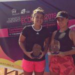 Fernanda Brito se tituló campeona de dobles del ITF de Guayaquil