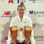Fernanda Brito se tituló campeona en singles y dobles del ITF de Asunción