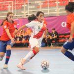 Chile cayó ante Perú en su debut por el Sudamericano Sub 20 de Futsal Femenino