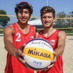 Gaspar Lammel y Vicente Droguett triufan en su debut por el volleyball playa de los Juegos Olímpicos de la Juventud