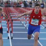 Martín Saenz debutó en el atletismo de los Juegos Olímpicos de la Juventud