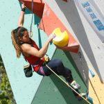 Alejandra Contreras obtuvo el cuarto lugar en la final de boulder del Panamericano de Escalada