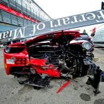 Un choque llevó al abandono de Benjamín Hites en la última jornada de la final mundial del Ferrari Challenge