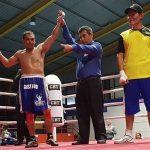 Octavio Faúndez debutó en el boxeo profesional con una victoria