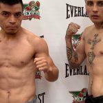 Gonzalo Fuenzalida y Juan Jiménez cumplieron el pesaje previo a una nueva velada del Club México