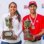 Chris Crisólogo y María Fernanda Escauriza ganaron el Abierto Sudamericano Amateur de Golf