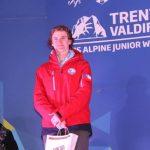 Diego Holscher ganó medalla de plata en el Slalom Gigante Sub 18 del Mundial Juvenil de Esquí Alpino