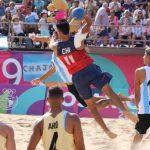 Las Selecciones Chilenas de Handball de Playa debutaron este domingo en Rosario 2019