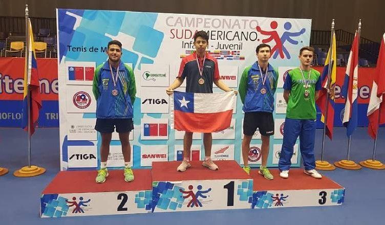 3c445a2d9 Nicolás Burgos ganó medalla de oro en el Sudamericano Juvenil e Infantil de  Tenis de Mesa