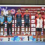 Nicolás Burgos y Andrés Martínez ganaron medalla de oro en dobles del Circuito Mundial Junior y Cadete de Santiago