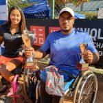 El argentino Agustín Ledesma y la colombiana Angélica Bernal ganaron el UNIQLO Wheelchair Chile Open