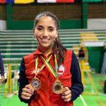 Catalina Valdés se coronó campeona sudamericana de karate adulta y sub 21