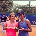 Fernanda Brito se tituló campeona de dobles del W15 de Bucaramanga