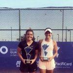 Fernanda Brito se tituló campeona de dobles del W15 de Guayaquil