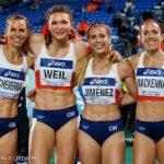 Equipo chileno femenino de posta 4x400 logró el sexto lugar en la Final B del Mundial de Relevos