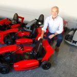 Eliseo Salazar lanzó el primer campeonato de karting eléctrico para niños