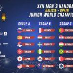 Chile jugará en el Grupo D del Mundial Junior Masculino de Handball