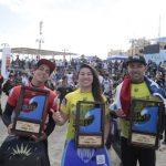 Anaís Véliz, Joaquín Soto y Alan Muñoz se titulan campeones del Bellavista Bodyboard Pro