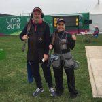 Claudio Vergara y Pamela Salman fueron octavos en el tiro al vuelo de Lima 2019