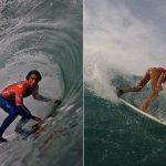 Guillermo Satt y Jessica Anderson van al repechaje del surf en Lima 2019