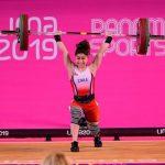 Katherine Landeros fue séptima en el levantamiento de pesas de Lima 2019