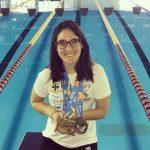 """Macarena Quero ganó tres medallas de oro en el Nacional """"Circuito Loterías Caixa"""" de Brasil"""