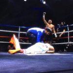 Diego Rivas debutó en el boxeo profesional con un rotundo triunfo por nocaut