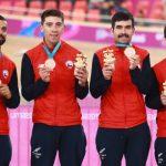 Cuarteta de persecución masculina ganó medalla de bronce en el ciclismo pista de Lima 2019