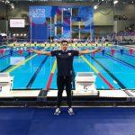 Oliver Elliot disputó la final B de los 50 metros libres en la natación de Lima 2019