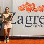 Daniela Seguel se quedó con el vicecampeonato de dobles del W60 de Zagreb