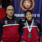 Nataly Ovando ganó medalla de plata en el Panamericano U15 de Lucha Olímpica
