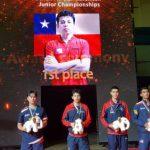 Nicolás Burgos se tituló Campeón Panamericano Juvenil de Tenis de Mesa
