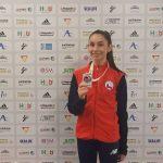 Magdalena Godoy ganó medalla de plata en la Karate1 Youth League de Venecia