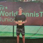 Matías Gaedechens sumó su tercer título consecutivo en el circuito junior de la ITF