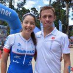 Vicente Trewhela y Macarena Salazar ganaron el Triatlón de Zapallar