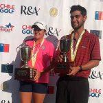 Benjamín Saiz-Wenz y la colombiana María José Bohórquez ganaron el Abierto Sudamericano Amateur de Golf