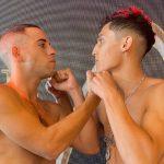 """Luis """"Junior"""" Cruzat y Mauro Barrios realizaron el pesaje previo a la velada de este sábado"""