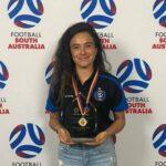 María José Rojas fue elegida como la jugadora del año en la Women's National Premier League Australiana