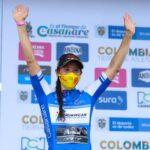 Paola Muñoz marcha segunda en la general en el inicio del Tour Femenino Colombia