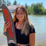 Trinidad Espinal logró un nuevo récord nacional infantil de slalom