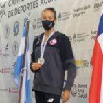 Kristel Köbrich obtuvo medalla de plata en el Sudamericano de Deportes Acuáticos