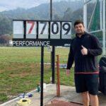 Gabriel Kehr logró un nuevo récord nacional en el lanzamiento del martillo