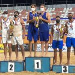 Vicente Droguett y Noé Aravena fueron subcampeones en el Sudamericano U23 de Vóleibol Playa